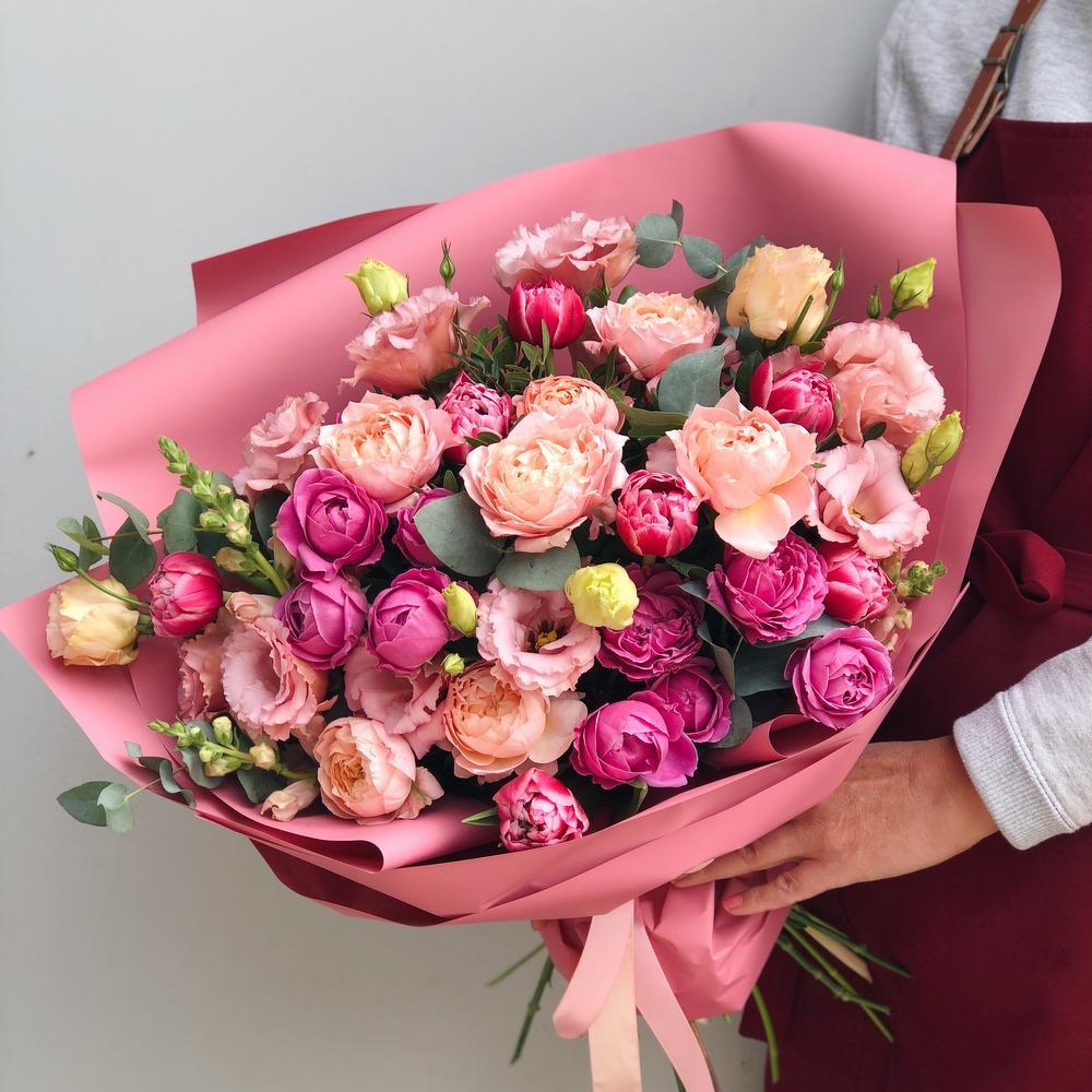 Рябиной розами, доставить букет в другой город