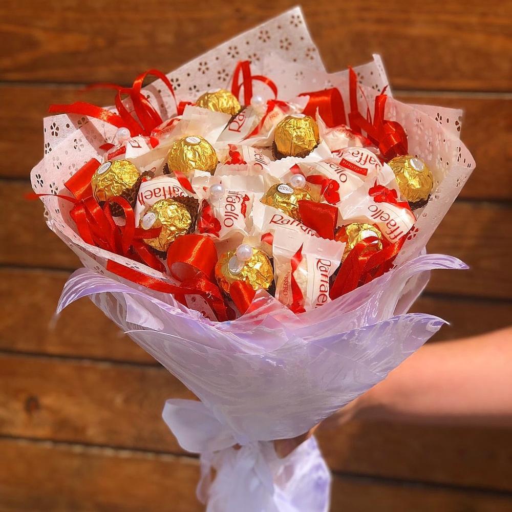 Букет ромашки, доставка букетов из конфет тюмень