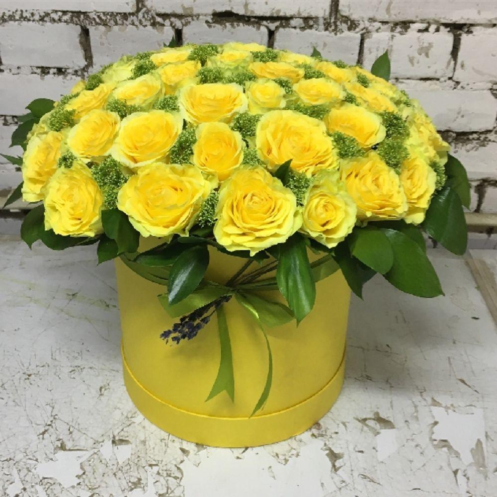 номера букет из желтых роз фото в коробке дом русалочка