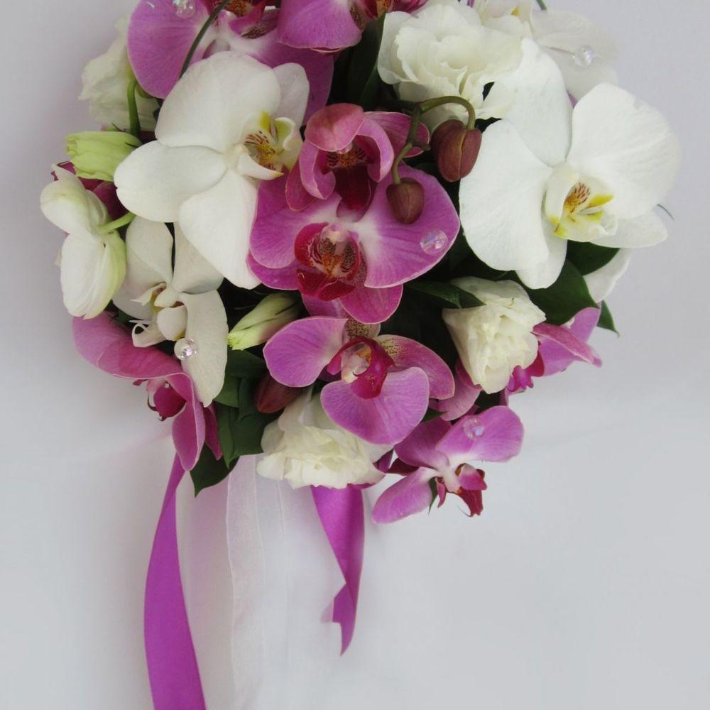 Цветов прайс, круглый букет из орхидей как сделать