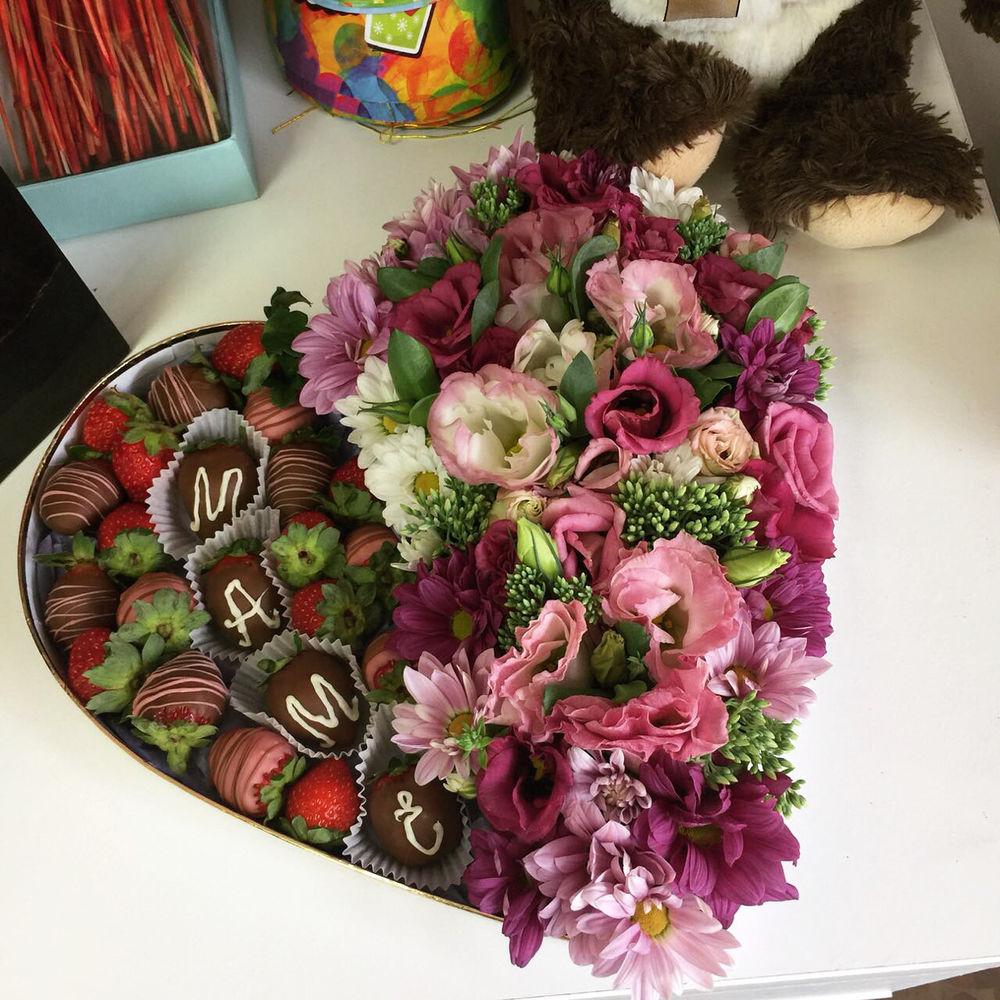 Необычный букет маме, цветов осенний