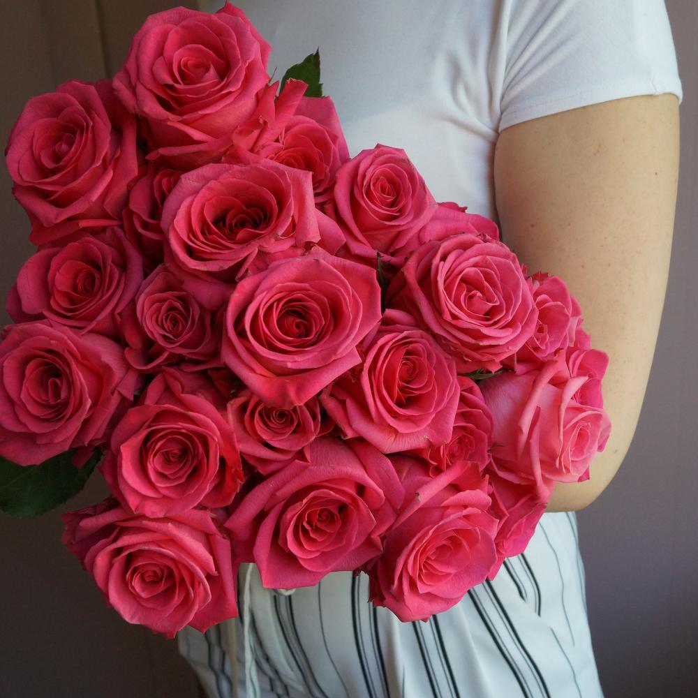 Круглосуточно, букет роз из 17 розовых