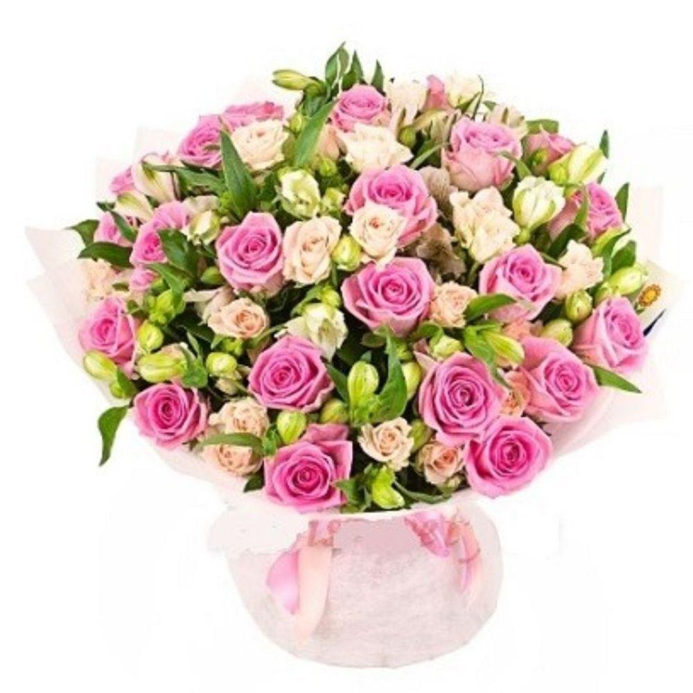 Букеты роз по нижнему