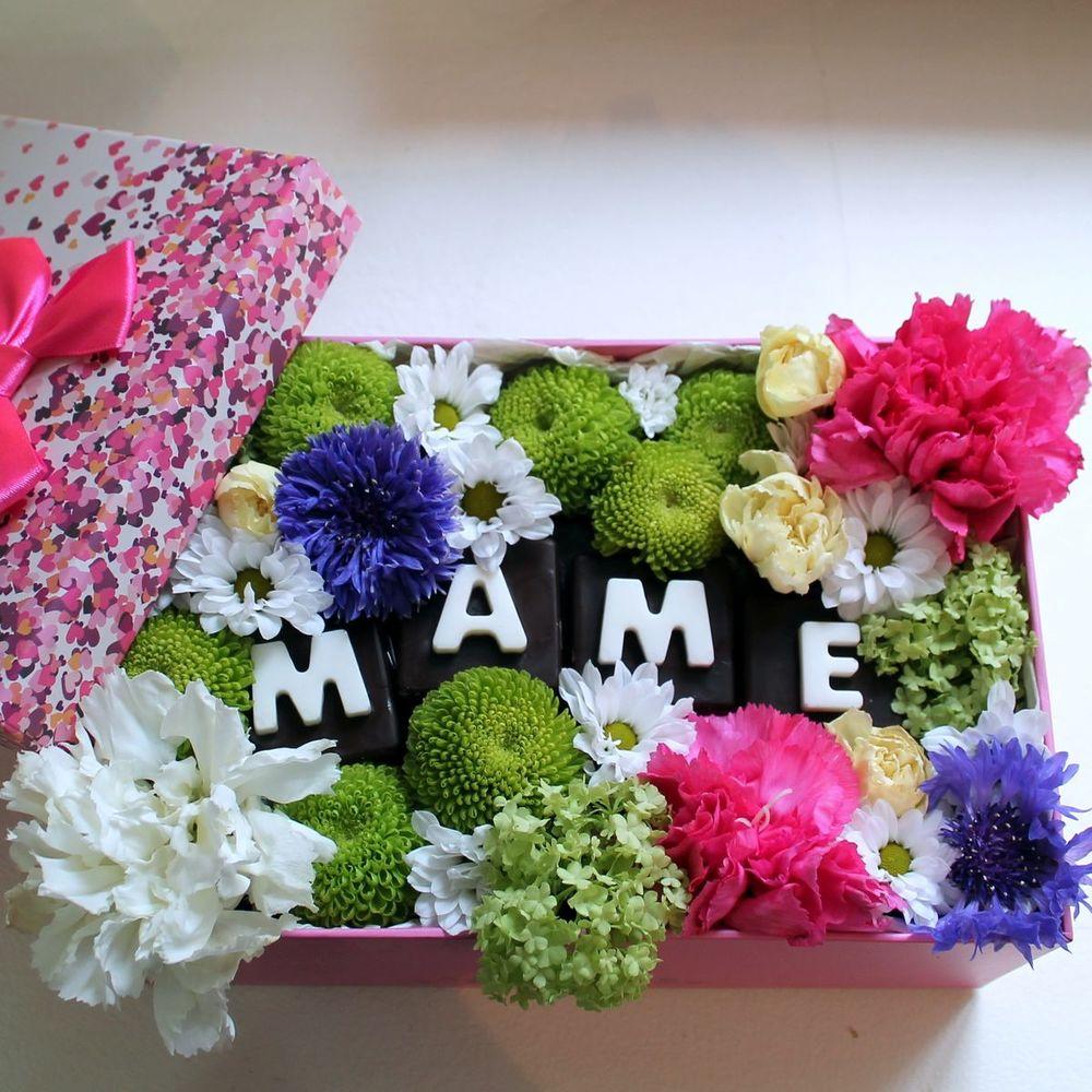 Букет из живых цветов на день рождения маме, цветы волосы для
