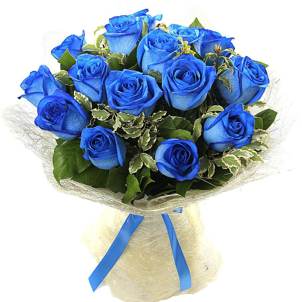 Синие розы цветы купить москва
