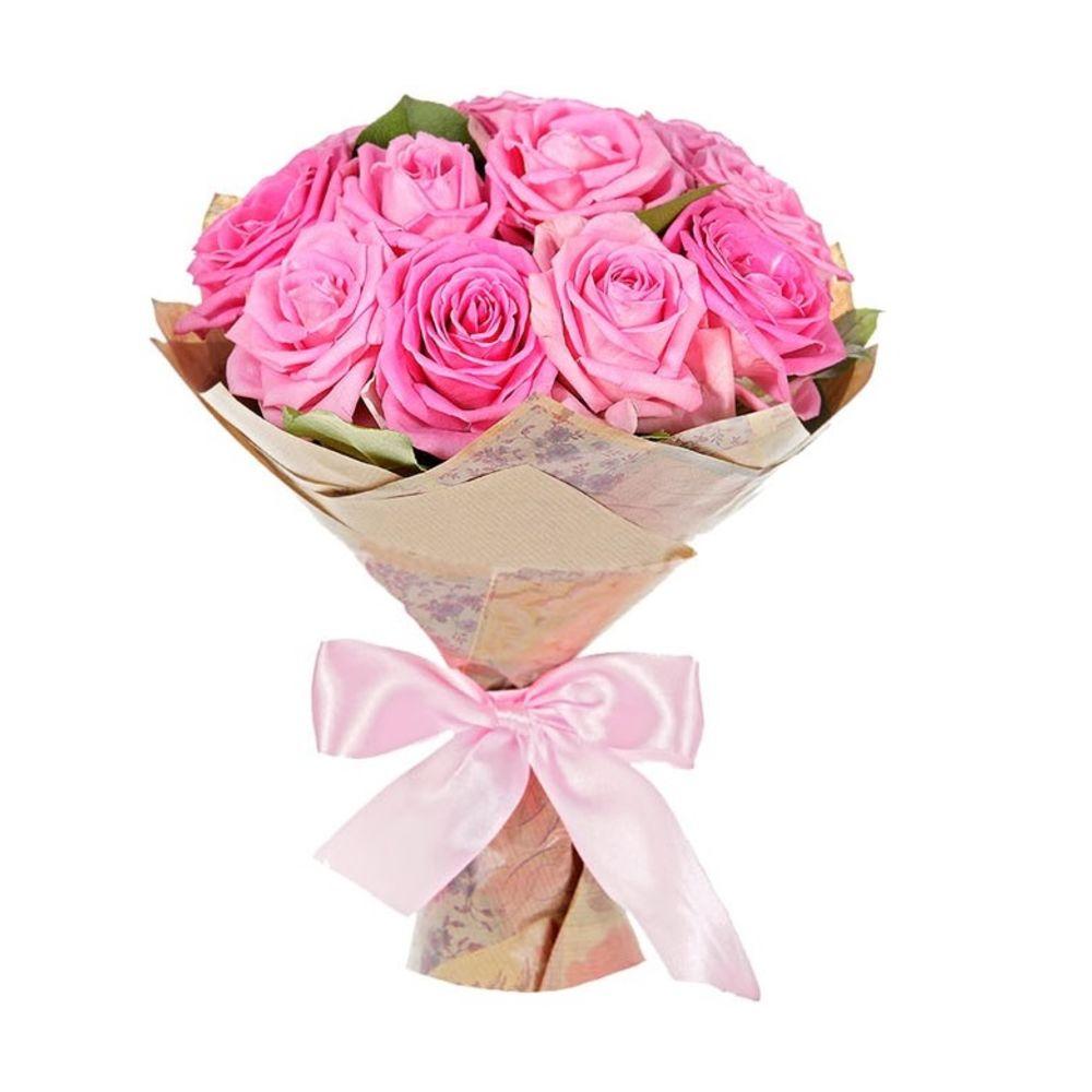 Букеты роз из 11 розовых, букет