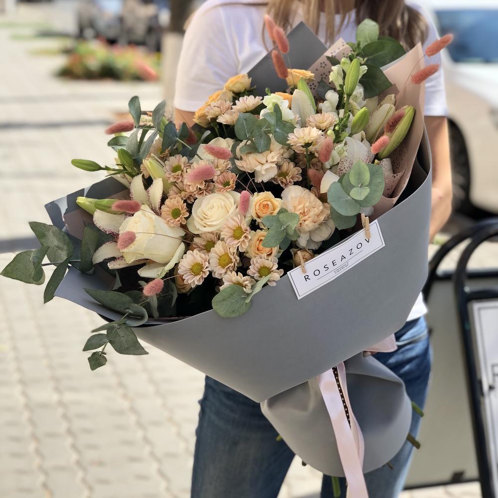 Доставка цветов в аксай, голубых роз цена