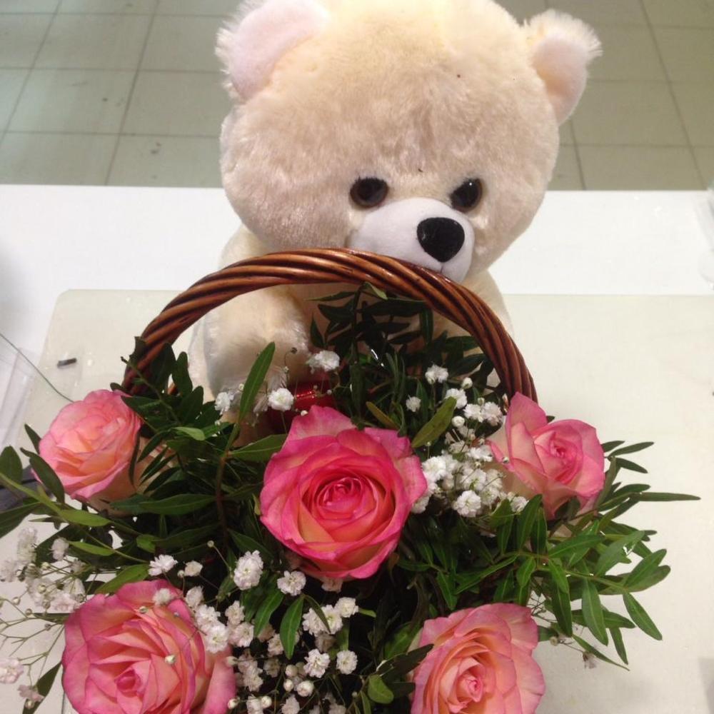 Букеты цветов с мишками картинки