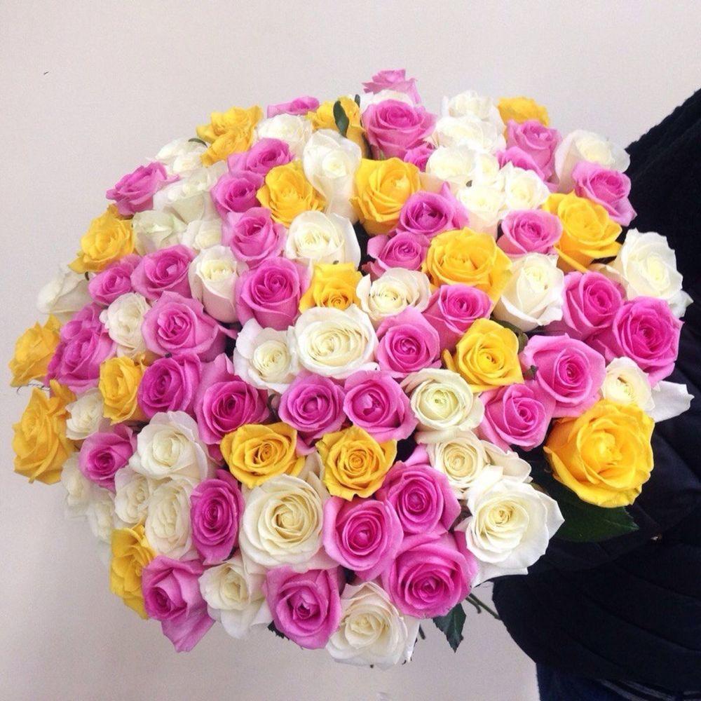 Доставка цветов розы 101 по санкт-петербургу, букет