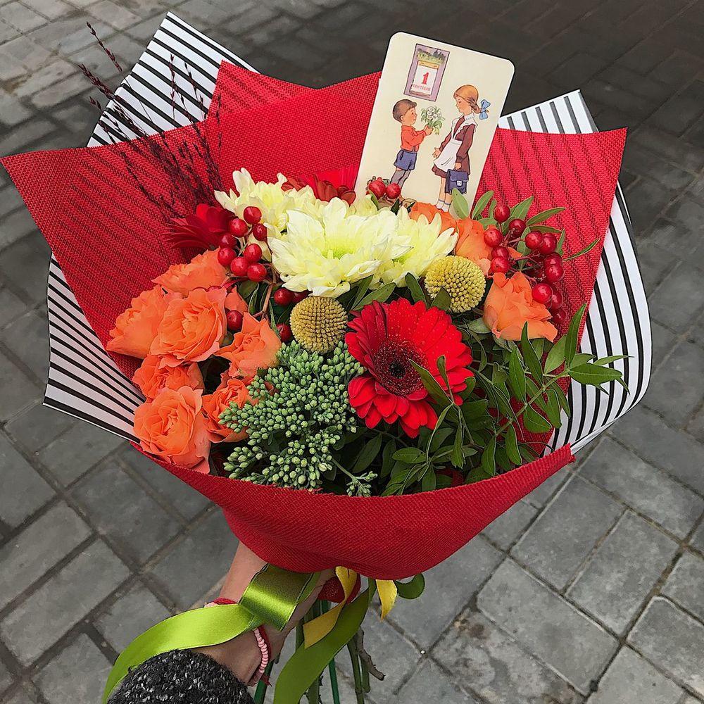 Цветы на 1 сентября купить спб