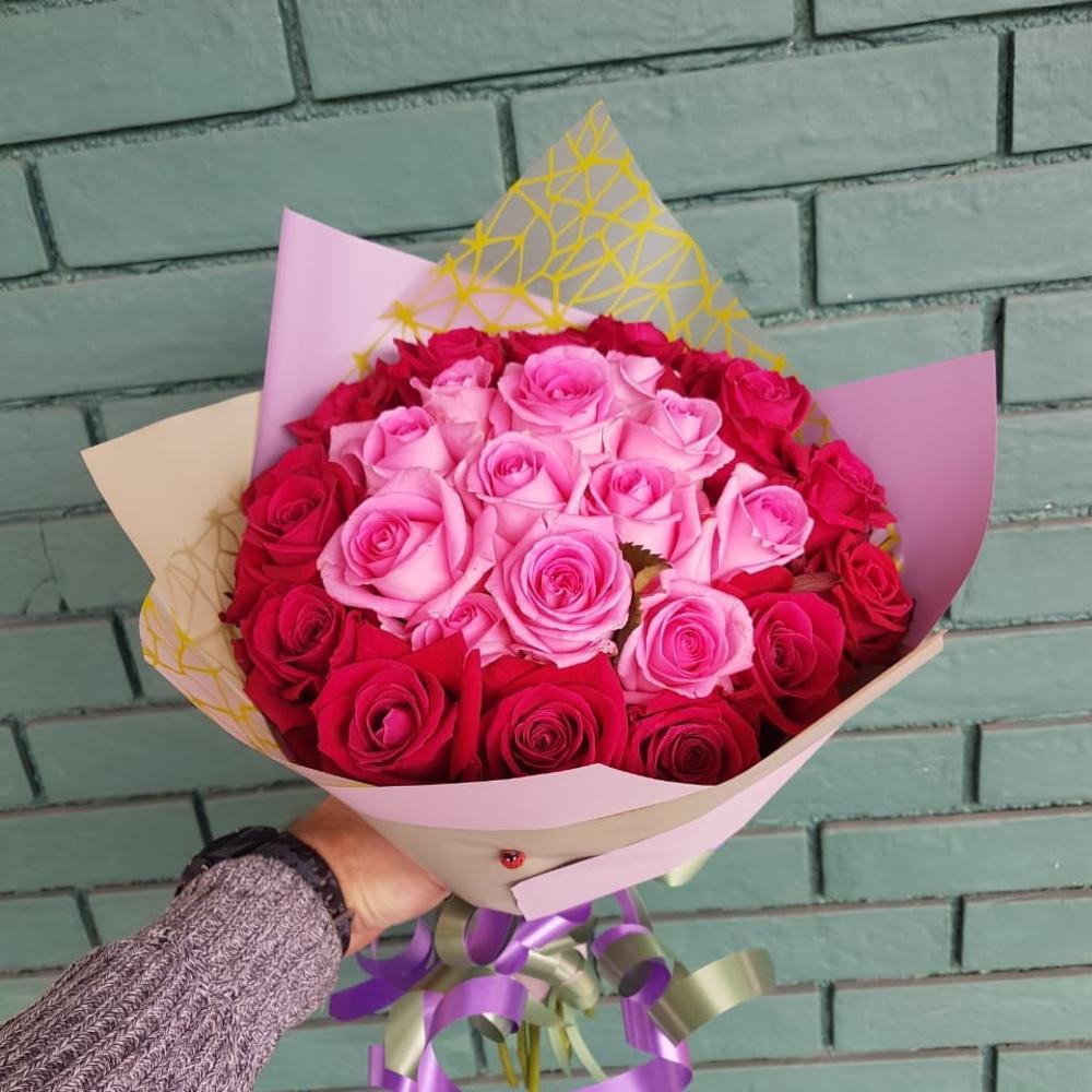 букеты из роз двух цветов смотреть фото хорошую