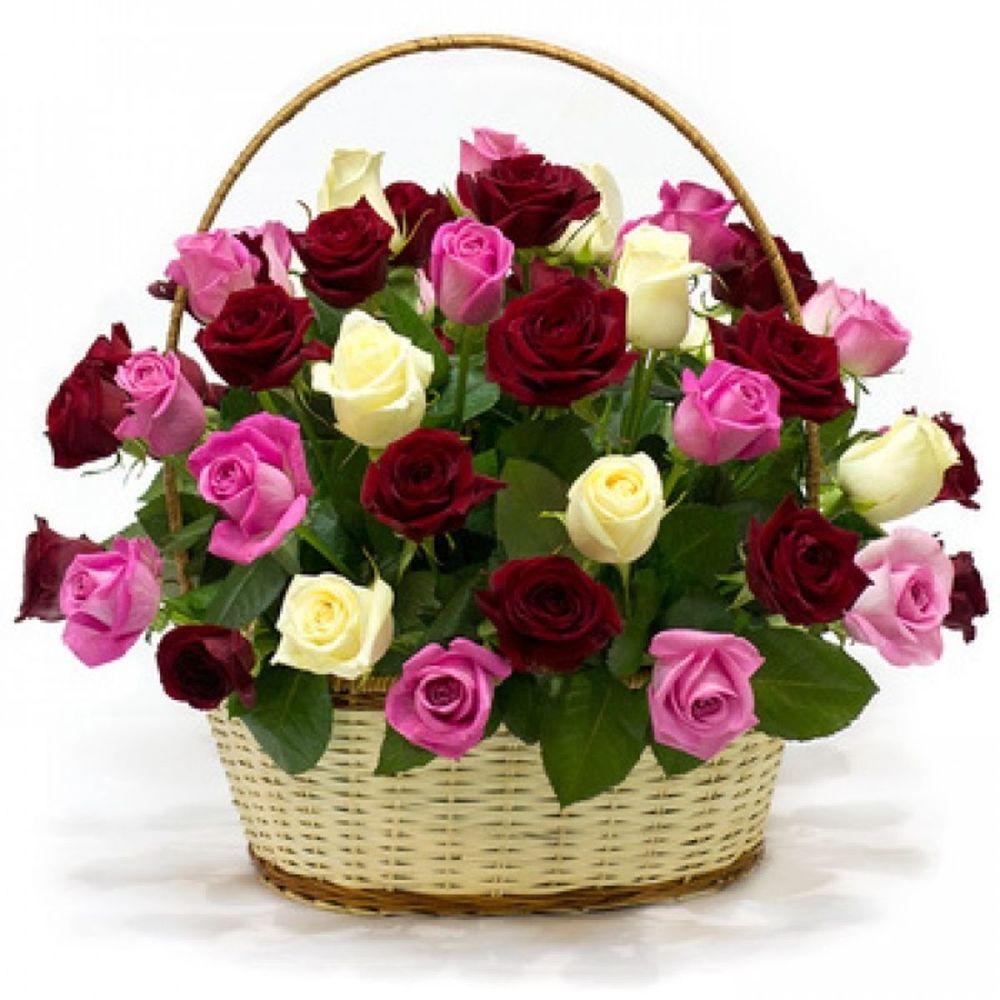 Красивые картинки корзины цветов