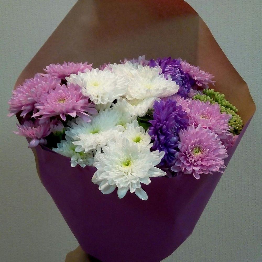 Цветочный, астры букеты на 1 сентября