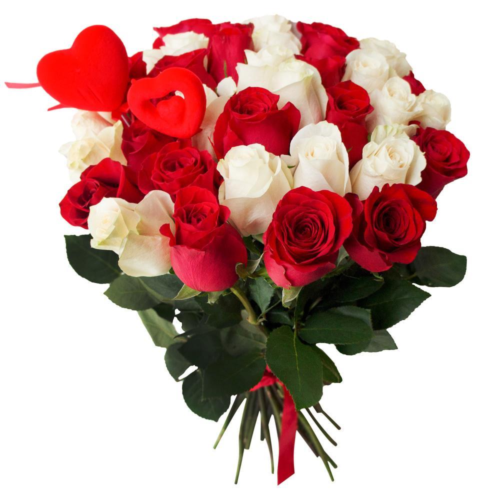 Картинки цветы белые и красные