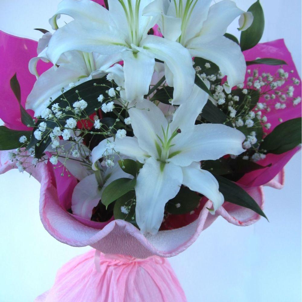Букеты из лилий живых цветов мастер класс, можно купить розы