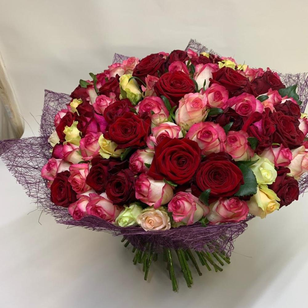 Доставка цветов розы 101 по санкт-петербургу