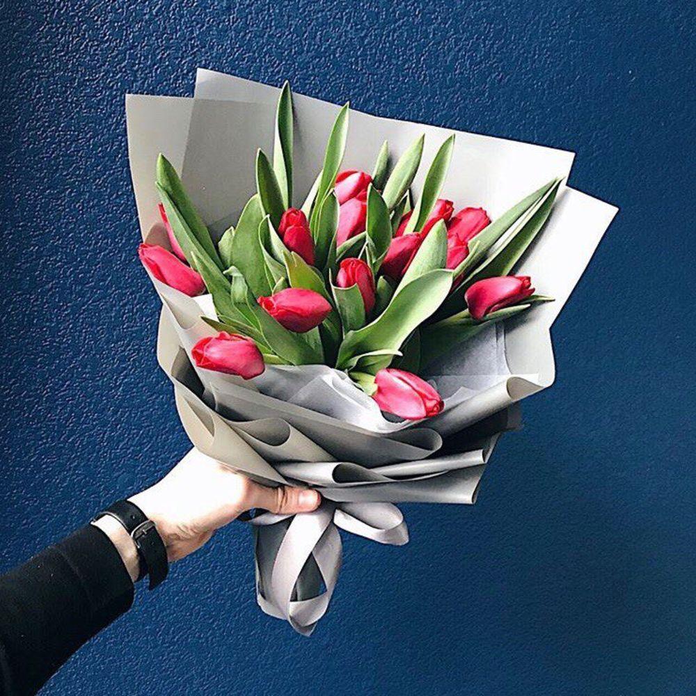 Букет тюльпанов 15 штук купить