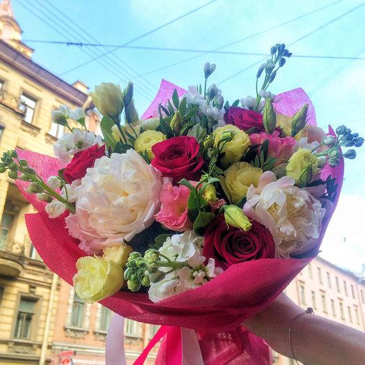 Летняя ночь (Букет 265): букеты цветов на заказ Flowwow