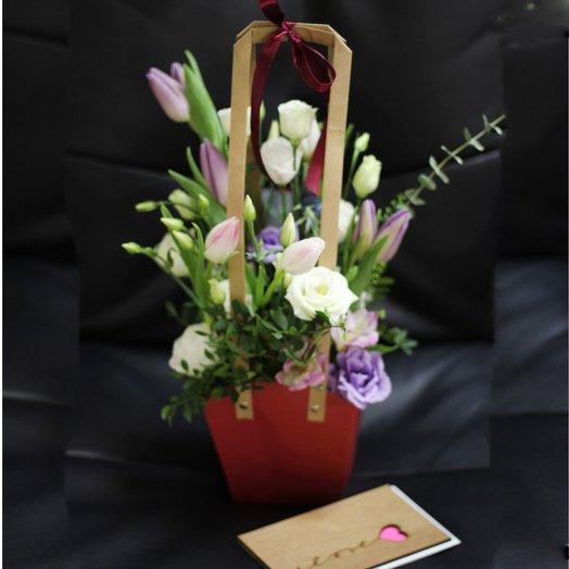 Стильная композиция из  нежных чувств: букеты цветов на заказ Flowwow