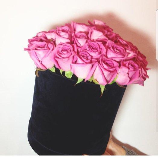 Коробочка Розовая Роза: букеты цветов на заказ Flowwow