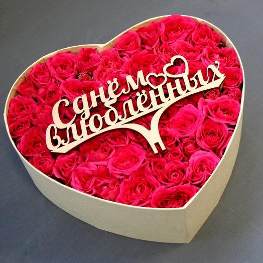 С Днем Влюбленных: букеты цветов на заказ Flowwow