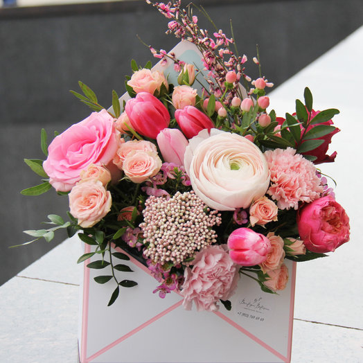 Цветочный конверт (Размер S): букеты цветов на заказ Flowwow