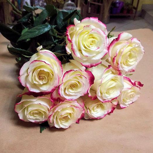Букет из 9 премиум-роз Sweetness: букеты цветов на заказ Flowwow