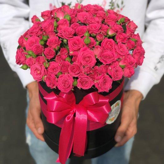 Коробки с цветами. Кустовые розы.  N237
