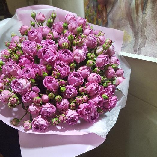 Мисти Баблс от Floristic World пионовидная Кустовая роза: букеты цветов на заказ Flowwow