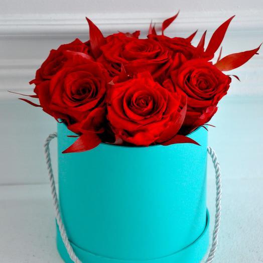 Букет из вечных роз (размер S): букеты цветов на заказ Flowwow