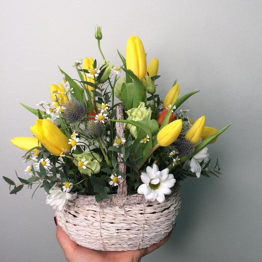 «Лукошко со счастьем»: букеты цветов на заказ Flowwow