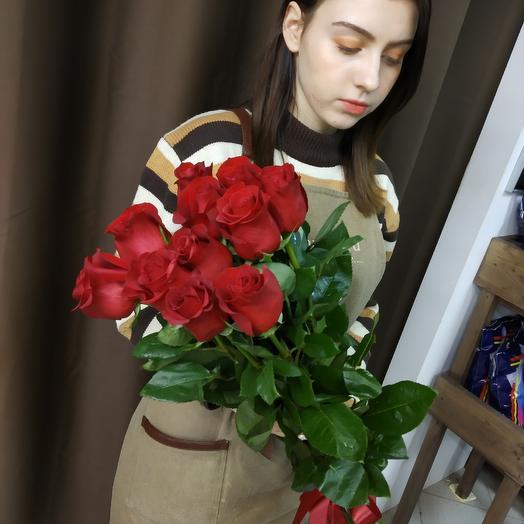 11роз 80 см Премимум: букеты цветов на заказ Flowwow