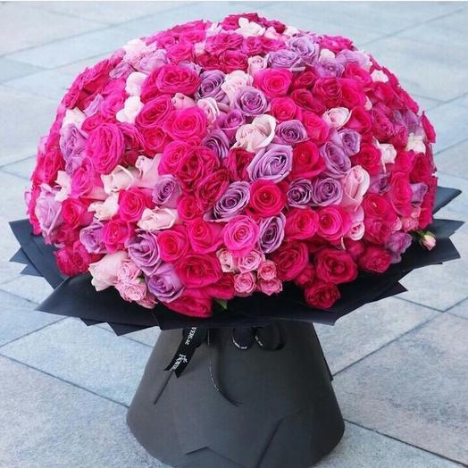 101 роза MIX эквадор: букеты цветов на заказ Flowwow