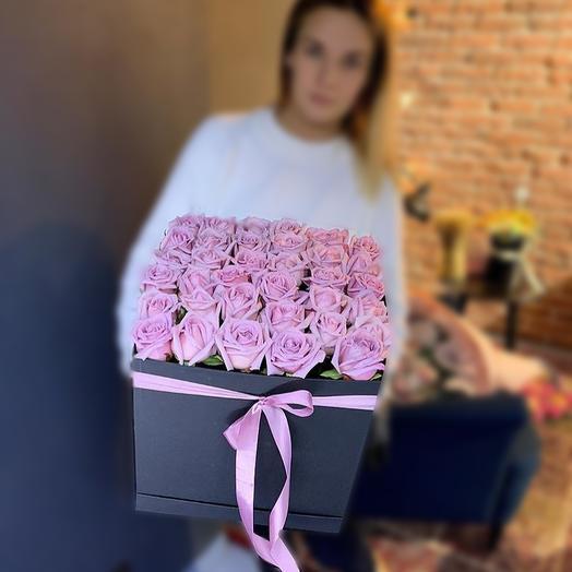 Розовый квадрат: букеты цветов на заказ Flowwow