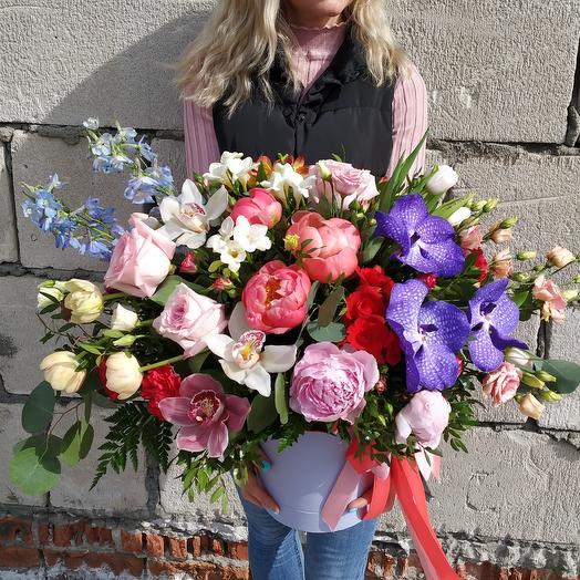 "Коробка ""Роскошь"": букеты цветов на заказ Flowwow"