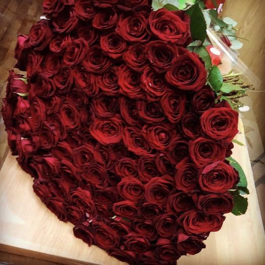 Роза Кения 101: букеты цветов на заказ Flowwow