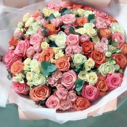 Сочный букет радости: букеты цветов на заказ Flowwow