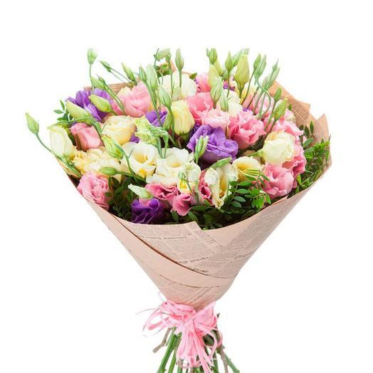 Букет Эустома: букеты цветов на заказ Flowwow