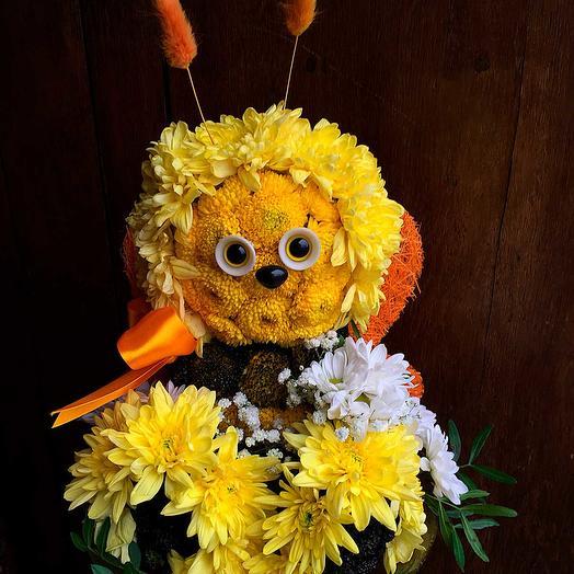 Игрушка из цветов Пчела: букеты цветов на заказ Flowwow