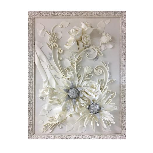Картина 3D «Белый букет»: букеты цветов на заказ Flowwow