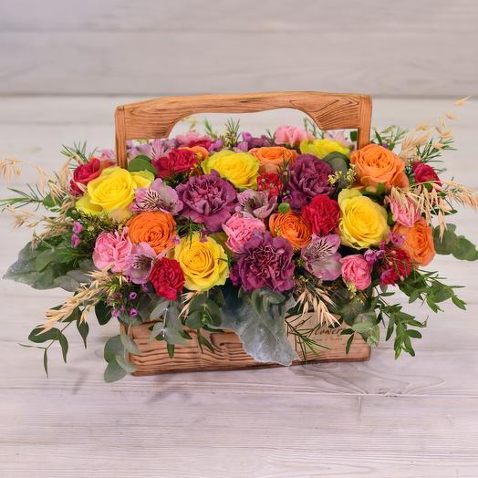 Ящик Джаз: букеты цветов на заказ Flowwow