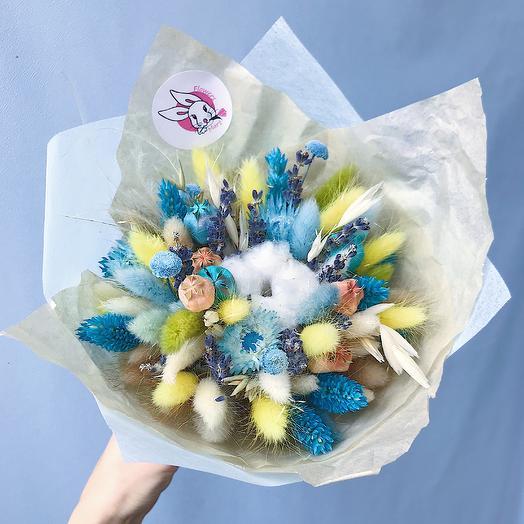 """7 """"Лимонный и бирюза"""" (XS): букеты цветов на заказ Flowwow"""