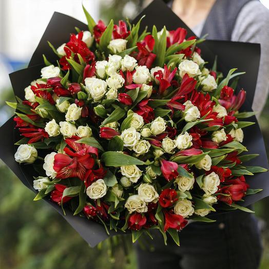 "Букет ""Ванильное Пламя"": букеты цветов на заказ Flowwow"