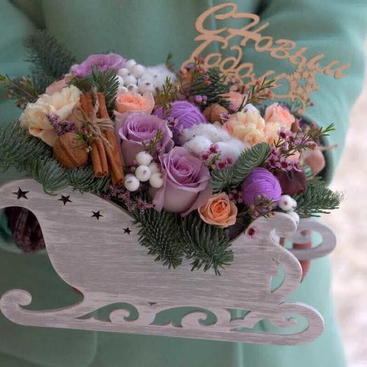 Новый год мчиться: букеты цветов на заказ Flowwow