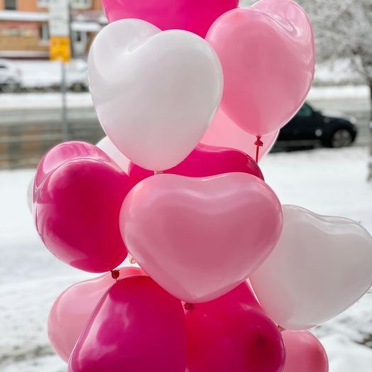 15 шаров в форме сердца: букеты цветов на заказ Flowwow