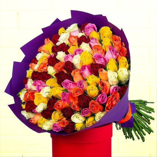 51 микс роза (Кения) 40 см: букеты цветов на заказ Flowwow