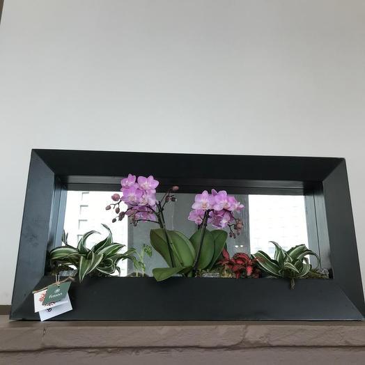 Вертикальная настенная композиция: букеты цветов на заказ Flowwow