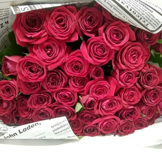 51 красная роза 50 см: букеты цветов на заказ Flowwow
