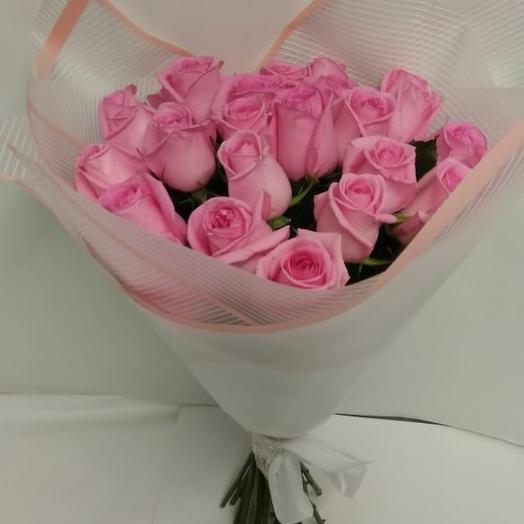 Букет розовой розы 50 см: букеты цветов на заказ Flowwow