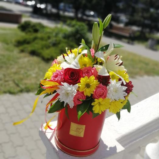 ✅ Цилиндр с цветами